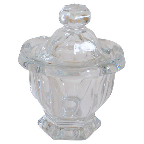 Baccarat French Crystal Jam Pot