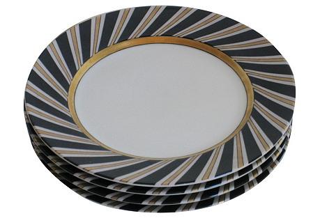 Art Deco  Canapé  Plates, S/4
