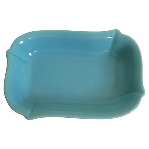 1940s Gladding McBean Turquoise Tray