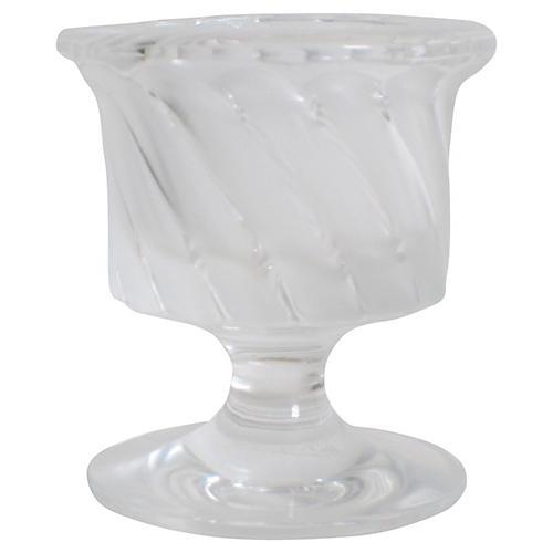 Lalique Swirl Pedestal Urn
