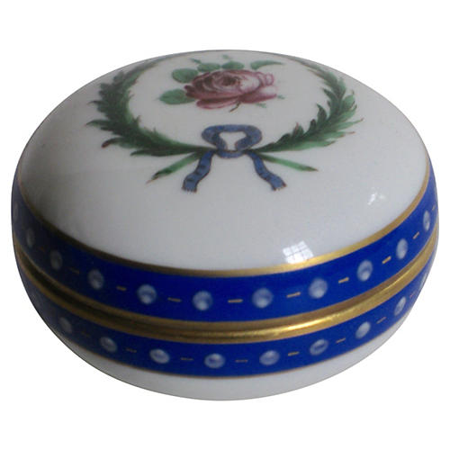 Ginori Italian Porcelain Rosebud Box