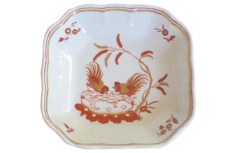 Ginori Italian Porcelain Roosters Tray