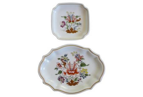 Ginori Italian Porcelain Trays, S/2