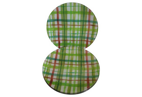 Mad for Plaid Plates, S/4
