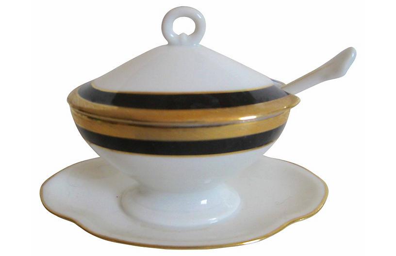 Ginori Italian Gilt Mustard Pot
