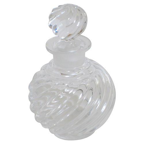 French Baccarat Swirl Perfume Bottle