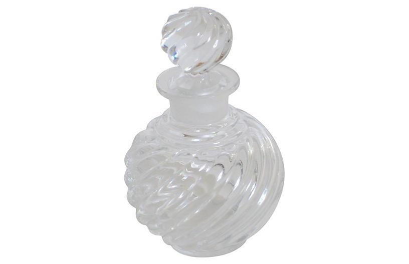 Baccarat Crystal Swirl Perfume Bottle