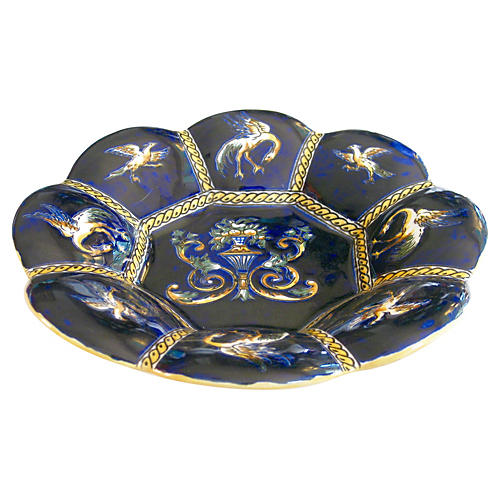 French Faience Lobed Bowl
