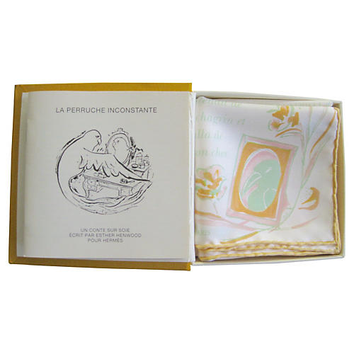 Hermès La Perruche Scarf, Book & Box