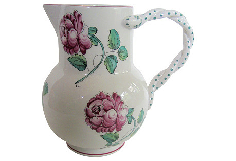 Tiffany & Co. Faience   Pitcher