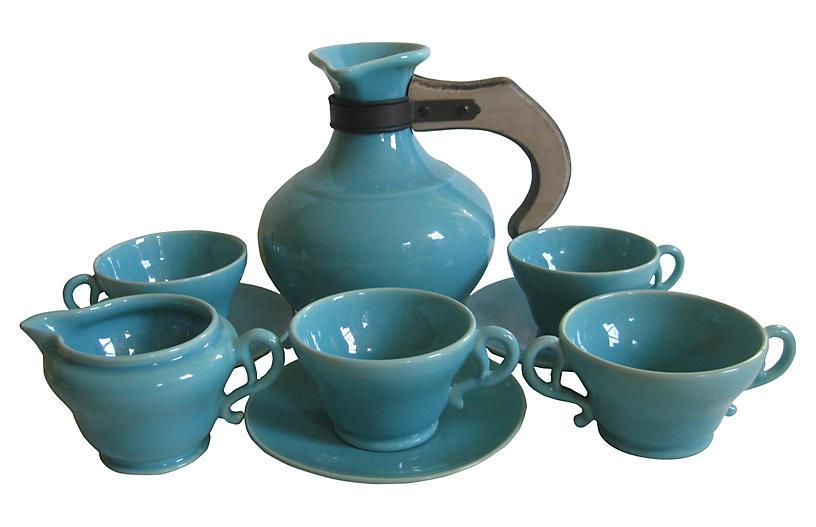 1940s California Pottery Coffee Set