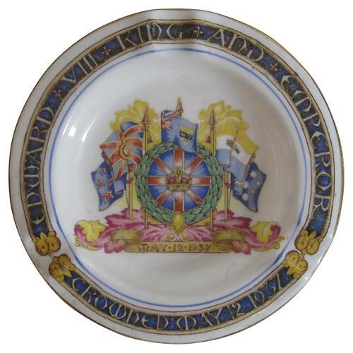1937 English King's Coronation Ashtray