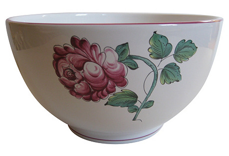 Tiffany & Co. Cabbage Roses Serving Bowl