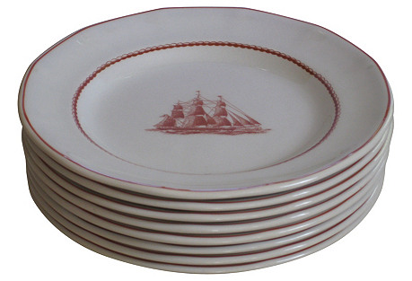 Wedgwood Flying Cloud Plates,   S/8