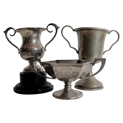 English Sterling & Silver Trophies S/3