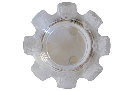 Lalique French Crystal Masks    Tray