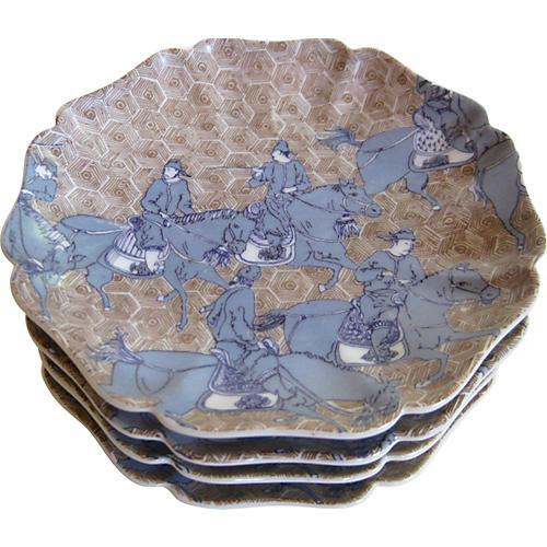 Japanese Warrior Plates, S/4