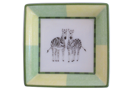 Hermès French Porcelain Zebras Tray