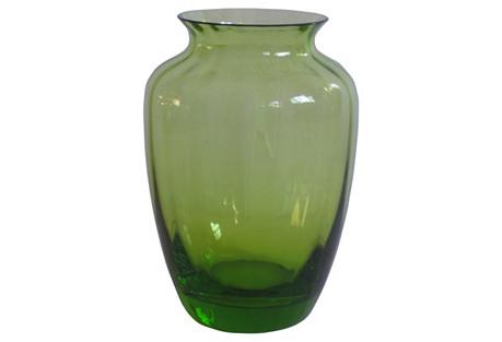 Baccarat Citrine Crystal    Vase