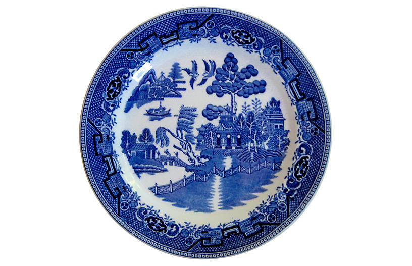 English Staffordshire Plate, 1929