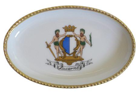 Lucerne Gilt Porcelain Tray