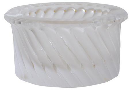 Lalique Art Deco   Swirl Ashtray