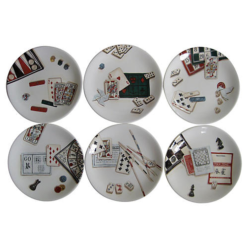 French Game Plates, S/6