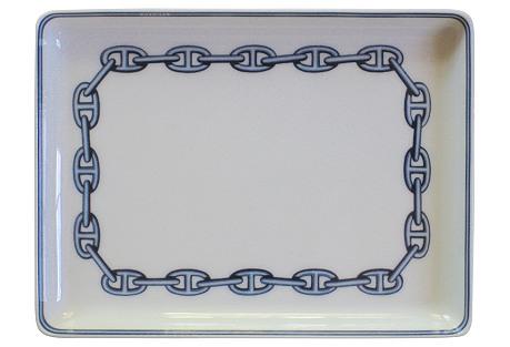 Hermès   French Porcelain   Tray  w/ Box