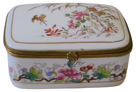 Le Tallec Paris  Porcelain & Ormolu  Box