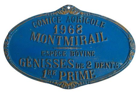 French Heifer Medal, 1968