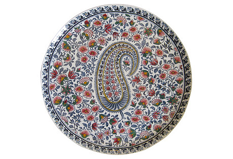 French Faience Serving  Plate
