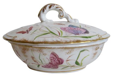 Antique English Lidded Soap Dish, C.1880