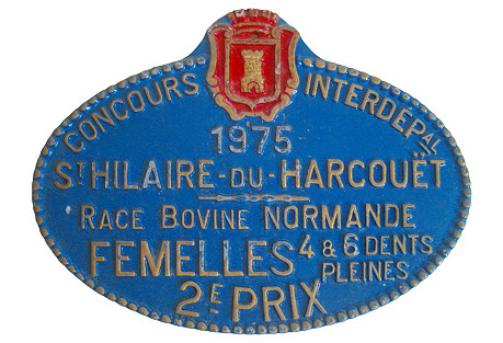 French Normandy Cow Medal, 1975