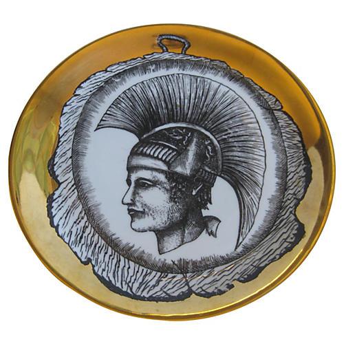 1960s Italian Fornasetti-Style Plate