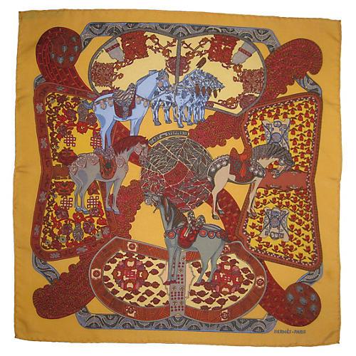 Hermès Art des Steppes Pochette Scarf