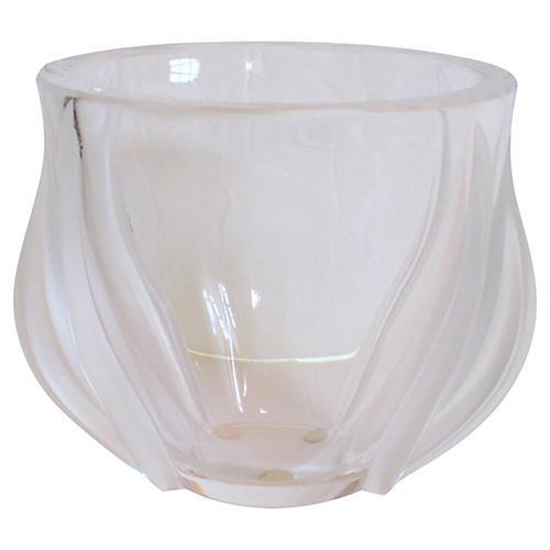 Lalique Art Deco Tulip Vase with Box