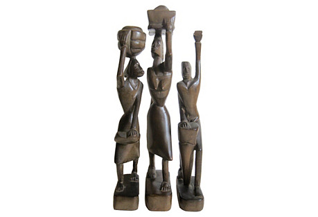 African Carved Sculptures, 1963