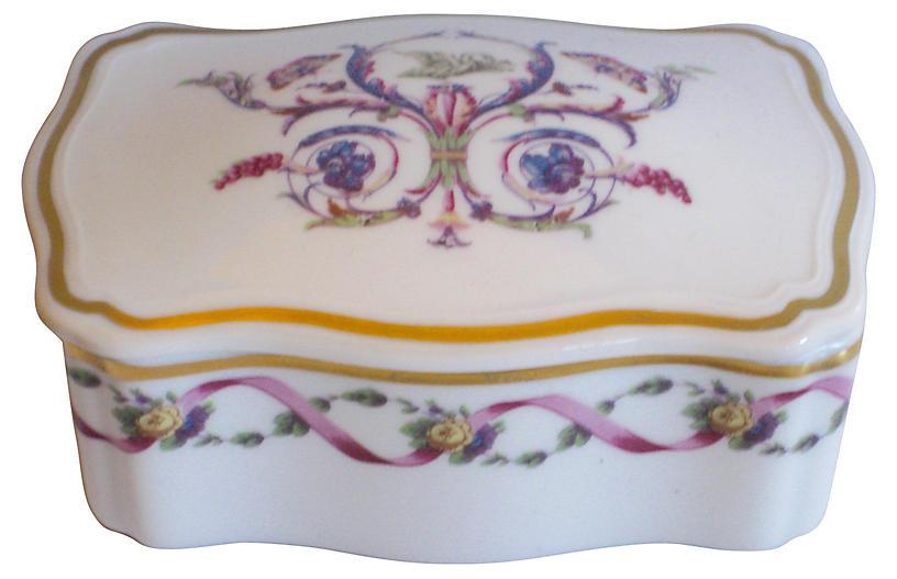 Ginori Rapallo Porcelain Casket Box