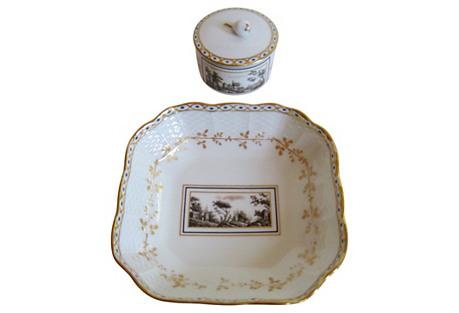Ginori Italian Porcelain Set S/2