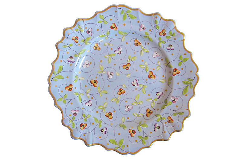 19th-C. French Hand-Painted Plate