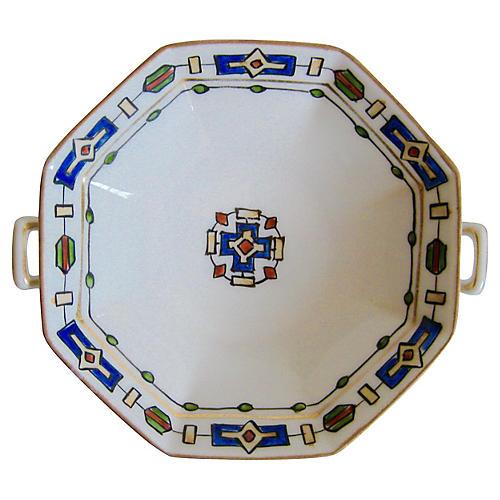 Nippon Porcelain Pedestal Bowl, c. 1920