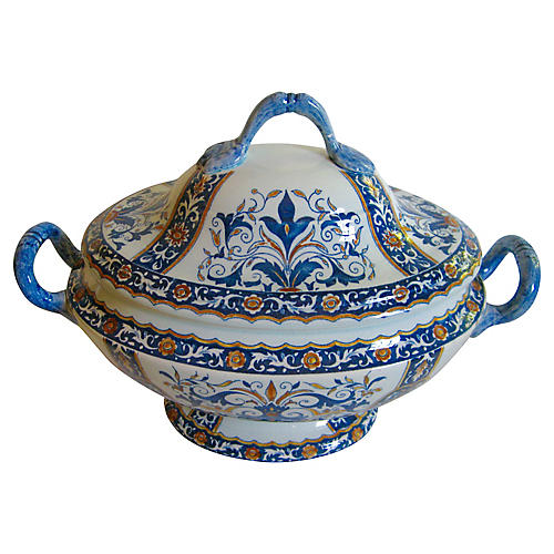 French Faience Tureen