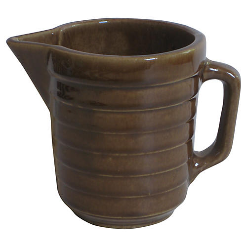 1940s American Pottery Pitcher