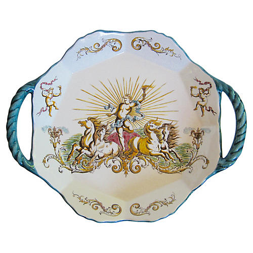 French Faience Serving Tray
