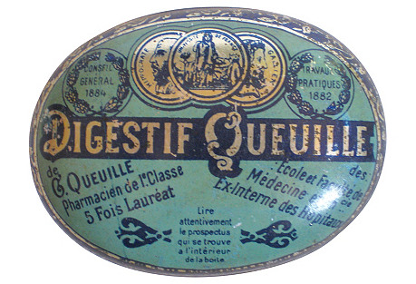 Antique French Lozenge Box