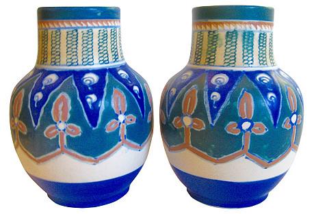 Nippon Kenilworth Vases, C. 1920, Pair