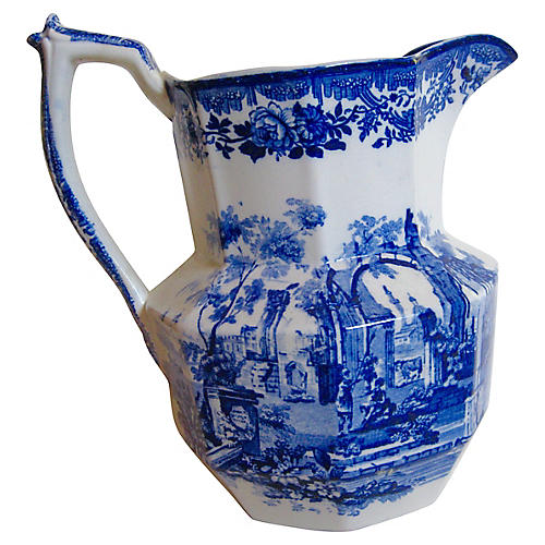 Antique English Ironstone Pitcher
