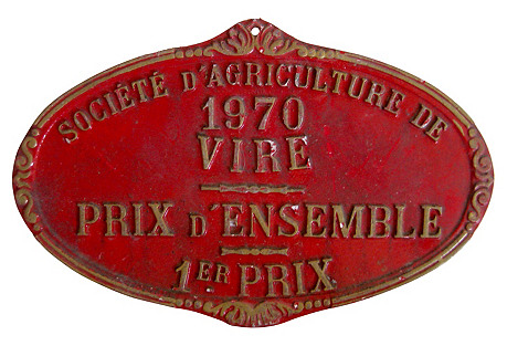 French Agricultural Medal, 1970