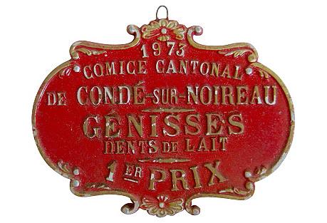French Heifer Medal, 1973