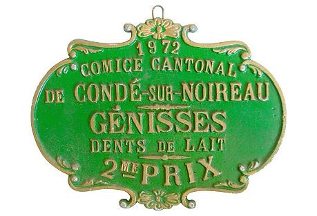 French Heifer Medal, 1972